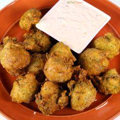Savory Broccoli Beignets by Mario Batali! #TheChew #FriedFood