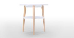 Marcos Side Table, Natural and White