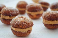 Peanut Butter Whoopie Pies Recipe Peanut Butter Whoopie Pie Recipe, Whoopie Pies, Pie Recipes, Muffin, Cookies, Baking, Breakfast, Desserts, Food