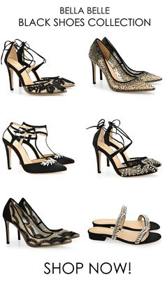 0200b3641e4 Bella Belle black shoes collection 2018 featuring glamorous crystals