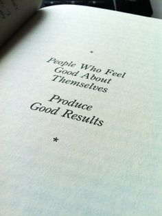 People who feel good about themselves produce good results. #OneMinuteManager