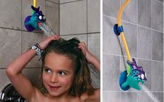 Make showering easier for kids with this adjustable shower head. 29 Ways To Design Your Kid's Dream Bathroom Girl Bathrooms, Baby Bathroom, Dream Bathrooms, Bathroom Mirrors, Bathroom Storage, Bathroom Gadgets, Family Bathroom, Bathroom Inspo, Casa Kids