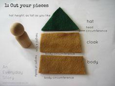 peg people elf tutorial from an everyday story An Elfish Advent Calendar