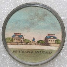 Circa 1780 French watercolor button from the collection of the Metropolitan Museum of Art