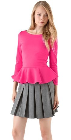 Peplum and pleats together? I'm in love!