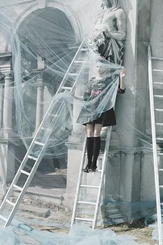 Tim Walker. Idea of the mounted woman, without a frame.  Still a spectacle.