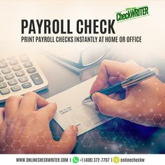 Payroll Check Never worry about paying your employees ever again. We have software which will allow printing instant payroll checks even on white paper and send e-checks. Writing Software, Writing Services, Order Checks Online, Cheap Checks, Payroll Checks, Check Mail, Blank Check, Accounts Payable, Get Gift Cards