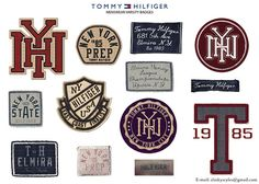 Varsity Inspired Badges & Patches for Tommy Hilfiger on Behance