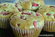 Grain Free Strawberry Lemon Muffins Recipe