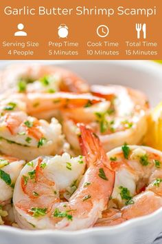 Who doesn't love a dish that tastes as amazing as garlic butter shrimp scampi and takes just 15 minutes to prepare? Serve this easy dish over pasta or with a loaf of crusty bread to sop up the delicious sauce. Shrimp Scampi Sauce, Scampi Recipe, How To Cook Shrimp, How To Cook Pasta, Incredible Recipes, Amazing, Chili Mac And Cheese, Potted Shrimp, Garlic Butter Shrimp