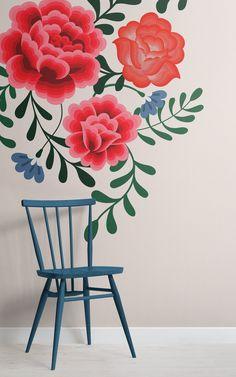Trendy wallpaper frida kahlo flowers ideas Un - Murales Pared Exterior Trendy Wallpaper, Flower Wallpaper, Of Wallpaper, Designer Wallpaper, Wallpaper Designs, Mural Floral, Flower Mural, Floral Wall, Mexican Flowers