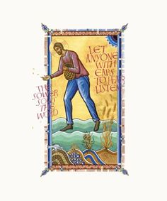 Beautiful Illumination - Donald Jackson and the Bible of St. John's. Parable of the Sower