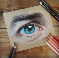 Günaygs adlı kullanıcının göz panosundaki pin, 2019 рисунки, журналы ve тех Colored Pencil Artwork, Pencil Art Drawings, Color Pencil Art, Coloured Pencils, Eye Drawings, Realistic Eye Drawing, Human Drawing, Eyes Artwork, Eye Drawing Tutorials