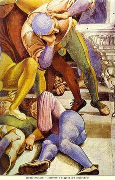 Luca Signorelli. The End of the World, Apocalypse. Detail. 1499-1502. Fresco. Orvieto Cathedral, San Brizio Chapel, Orvieto, Italy.