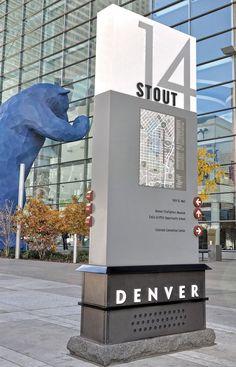 Stout Street In Denver Monument Sign