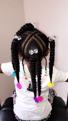 Black Kids Hairstyles with Beads – New Natural Hairstyles Lil Girl Hairstyles, Black Kids Hairstyles, Natural Hairstyles For Kids, Kids Braided Hairstyles, Girl Haircuts, Natural Hair Styles, Short Hair Styles, Short Haircuts, Toddler Hairstyles