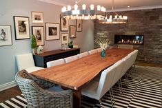 Custom Live Edge Siberian Elm Slab Table - contemporary - dining tables - toronto - Urban Tree Salvage