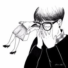 Henn Kim is a Korean illustrator who cleverly combines Freud's dream interpretation, with Dadaist poetry to take you through the journey of love and loss.