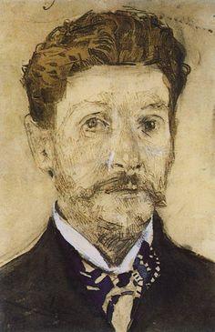 Михаил Врубель. Автопортрет. 1904-1905