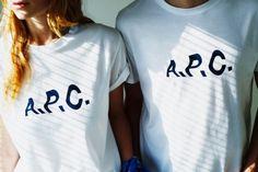 """再入荷決定""""A.P.C."""" relume  Special make up Logo T-Shirts -"""