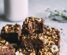 These Chocolate Peanut Butter Avocado Brownies are raw, vegan and make in the food processor, meaning they couldn't be simpler to whip up and enjoy! Chocolate Peanut Butter Brownies, Raw Brownies, Raw Chocolate, Chocolate Peanuts, Avocado Recipes, Snack Recipes, Dessert Recipes, Desserts, Brownie Ingredients