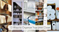 15  ways to organize the linen closet.
