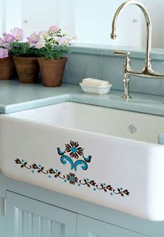 """We've just added the Norwegian Rosemaling to our """"Around the World"""" collection of decorative decals."""