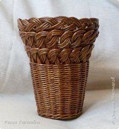 Поделка изделие Плетение Мои не вполне удачные работы но мне нравятся Трубочки бумажные фото 8