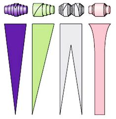 #DIY - Como fazer missangas de papel -  Modos de enrolar as miçangas de papel - site VILA DO ARTESAO.COM.BR