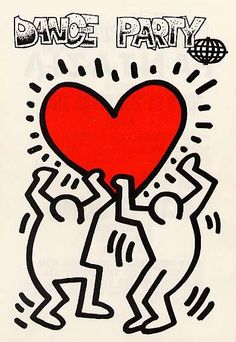 Keith Haring club flyers.