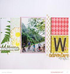 W adventure by jamiewaters at @studio_calico - Pop Art Scrapbook Kit