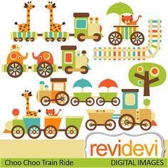 Choo Choo Train Clip Art | Choo Choo Train Ride Cliparts 07403.. Commercial use by revidevi