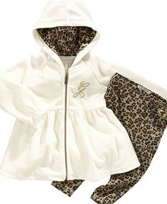 Guess Baby Set, Baby Girls Leopard Print Hoodie and Pants - Kids Baby Girl (0-24 months) - Macy's
