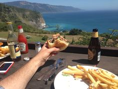 I ate this burger cooked medium and anchor steam beer at Lucia Lodge Big Sur California [2048x1536] [OC]