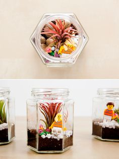 Spruce up for spring with these DIY LEGO terrariums.