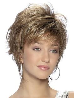 Sienna Wig by TressAllure : A new look that can take feathery layers and bring it to a fashionable and professional style, short and simple. Short, simple and Chic! Feathery layers and a fashionably progressive finish in the nape area give this cut its runway appeal.