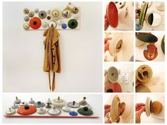 Recycle your lids! I made a coathanger out of lids. But surprise, surprise behind each lid one can discover weird things...  Idea sent by Carlota Stürmer ! #Coathanger, #DIY