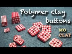 DIY Polymer clay buttons tutorial - Square fabric - Bottoni in Fimo - Botones en arcilla polimerica - YouTube