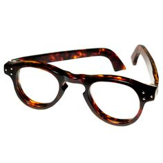 vintage - 1940s BRITISH VINTAGE EYEWEAR 3DOT THE BOND DEMI AMBER HAND MADE IN ENGLAND