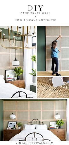 DIY Cane Wall Panels | Caning Furniture  Vintage Revivals Caning in its most basic form is a weaving technique used on furniture. Caning is at the forefront of design trends now. #caning #diy