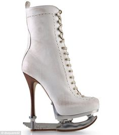 An accident waiting to happen? Label launches high-heeled boots for fashion-conscious ice-skaters