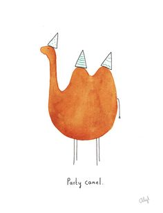 Illustration Party Camel