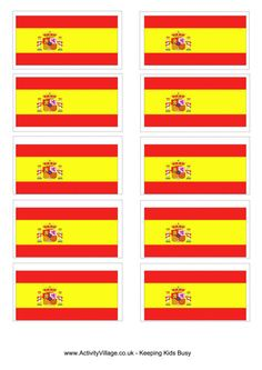 Free Printable Olympic Flag | ... around the world europe spain flag printables flags flag printables