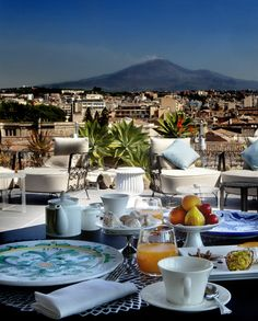 Catania, Sicily with Mt. Etna in the background. This view reminds me of a very special day of my life.