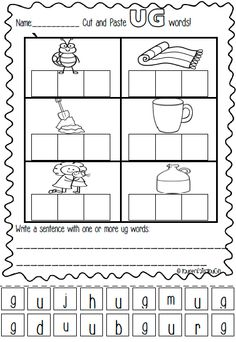 UG word family pack. Packed full of literacy and spelling games, activities and worksheets!