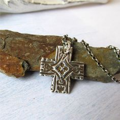 Cross Necklace Celtic Cross Rustic Cross by EarthshineDesigns1, $40.00