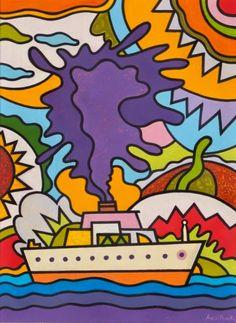 Αλέξη Ακριθάκη Ταξίδι με βαπόρι Turin, Art Lessons, Kids Rugs, Illustration, Blog, Greek, Artists, Color Art Lessons, Kid Friendly Rugs