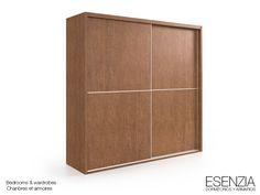 ESENZIA - Armario 2 puertas correderas. Color marrón. Se pueden combinar con los acabados disponibles.