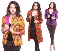 Indian fusion Ikat jackets at Ethniche by Swati Kain