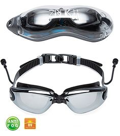 ac16e280637 Swim GogglesMirrored Swimming Goggles No Leaking Anti Fog Shatterproof UV  Protection for Men Women Youth Kids